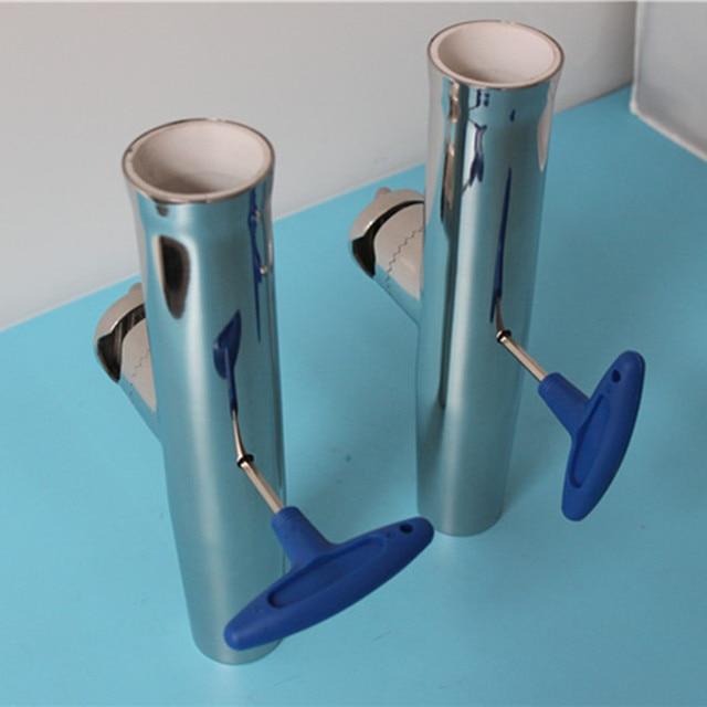 """1 5/8 """"ロッドホルダー調節可能なステンレスクランプ釣竿ホルダー × 2 個clamp onclamping clampclamp stainless"""