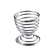 цены Metal Egg Cup Spiral Kitchen Breakfast Hard Boiled Spring Holder Egg Cups