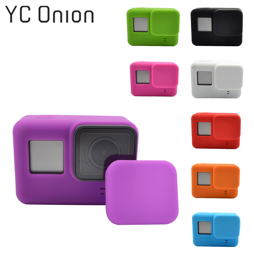 YC Onion For Go Pro Accessories Action Camera Protective Silicone Case For GoPro Hero