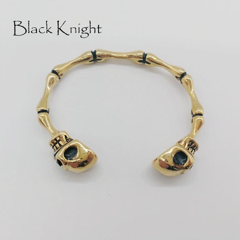 2018 New arrival vintage plated Gothetic Skull men bangle 316L stainless steel bone joint bangles bracelet punk jewelry BLKN0596