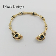 2019 New arrival vintage plated Gothetic Skull men bangle 316L stainless steel bone joint bangles bracelet punk jewelry BLKN0596 стоимость