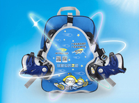Kids Cutie Cartoon Roller Skate Shoes Bag Portable Carry Bag Backpack Bag Big Capacity Skating Accessories