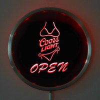Rs 0050 Coors Light OPEN LED Neon Round Signs 25cm 10 Inch Bar Sign With RGB