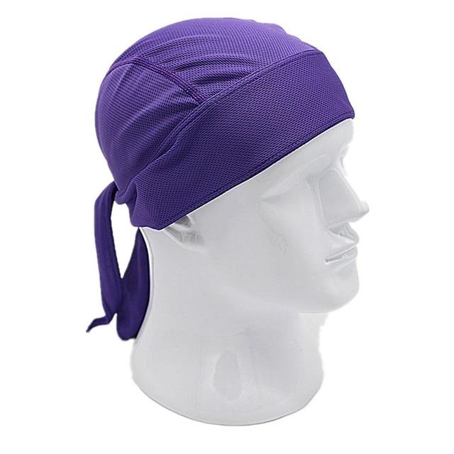 Outdoor Quick Dry Pure Cycling Cap Head Scarf Headscarf Headband Summer Men Running Riding Bandana Ciclismo Pirate Hat Hood 5