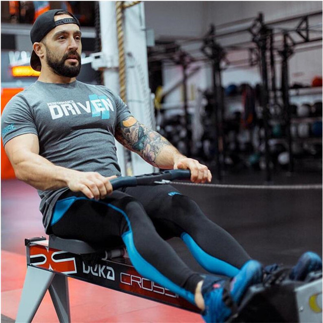 New RISE Casual Summer New Clothing Gyms  Casual T-shirt Mens Fitness Tops Tees Fashion Streetwear Work Out Clothing Sportwear