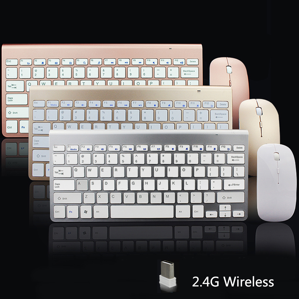 Sungi 2.4G ultra-subțire tastatură wireless și mouse-ul Combo la modă Design Set de tastatură mouse-ul pentru Apple Mac PC Windows XP / 7/8/10