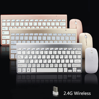 SUNGI 2.4G Ultra-Sottile Tastiera Wireless e Mouse Set Mouse Tastiera Combo Design Alla Moda Per Apple Mac PC Windows XP/7/8/10