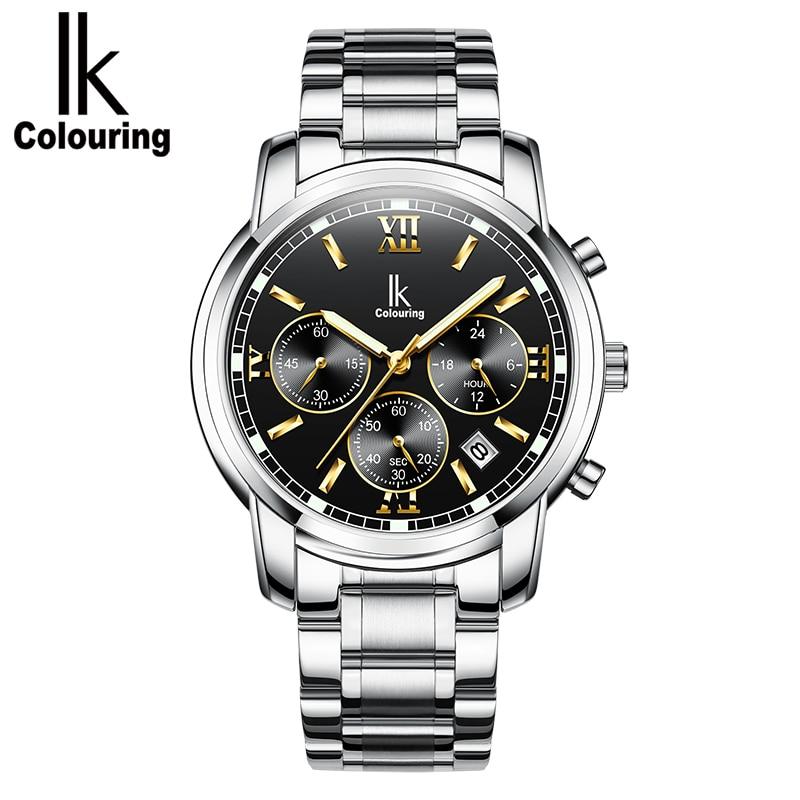 Luminous Quartz Wristwatches Men Business Style Stopwatch Calendar function clock erkek kol saatiLuminous Quartz Wristwatches Men Business Style Stopwatch Calendar function clock erkek kol saati