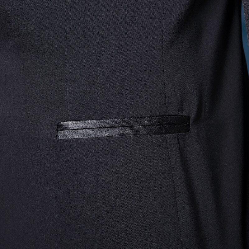 Male mens formal dress men groom suit married suits male costume men wedding suits 2018 latest coat pant designs black M - 2XL
