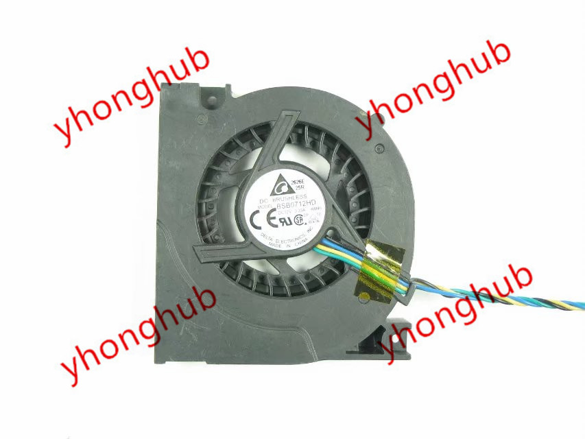 Delta Electronics BSB0712HD Server Laptop Fan DC 12V 0.33A 4-wire free shipping for delta afc0612db 9j10r dc 12v 0 45a 60x60x15mm 60mm 3 wire 3 pin connector server square fan