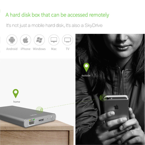Image 3 - Airdisk T2 Mobile network hard disk USB3.1 Family Smart Network Cloud Storage 2.5inch Remotely Mobile Hard Disk Box(NOT HDD)