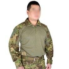 Для Мужчин Армия Военная Униформа Тактический рубашка Airsoft Пейнтбол Стрельба BDU рубашка Combat EMES Gen3 рубашка GZ/bl/ss