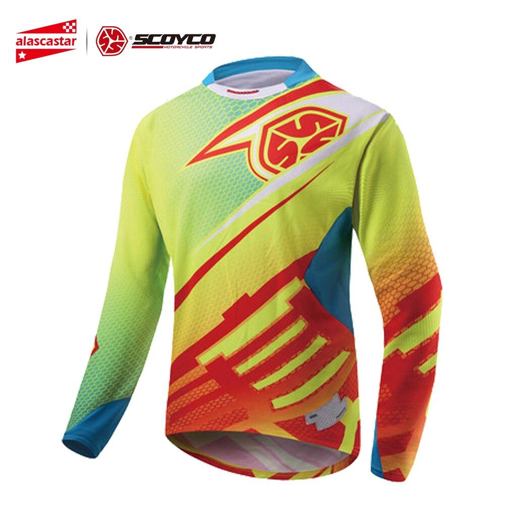 SCOYCO Motocross Shirt Motorcycle Jacket Off-road T-shirt Ride Bicycle Long-sleeve Shirt Motocross Jersey Moto Jersey Jaqueta sexy off the shoulder long sleeve black flounced t shirt for women