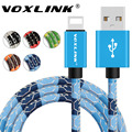 VOXLINK 5V 2A Fast Charger Cables Mobile Phone Lightning to USB Charger Data Cable for iPhone 7 6s plus 5 5s iPad Air iPod