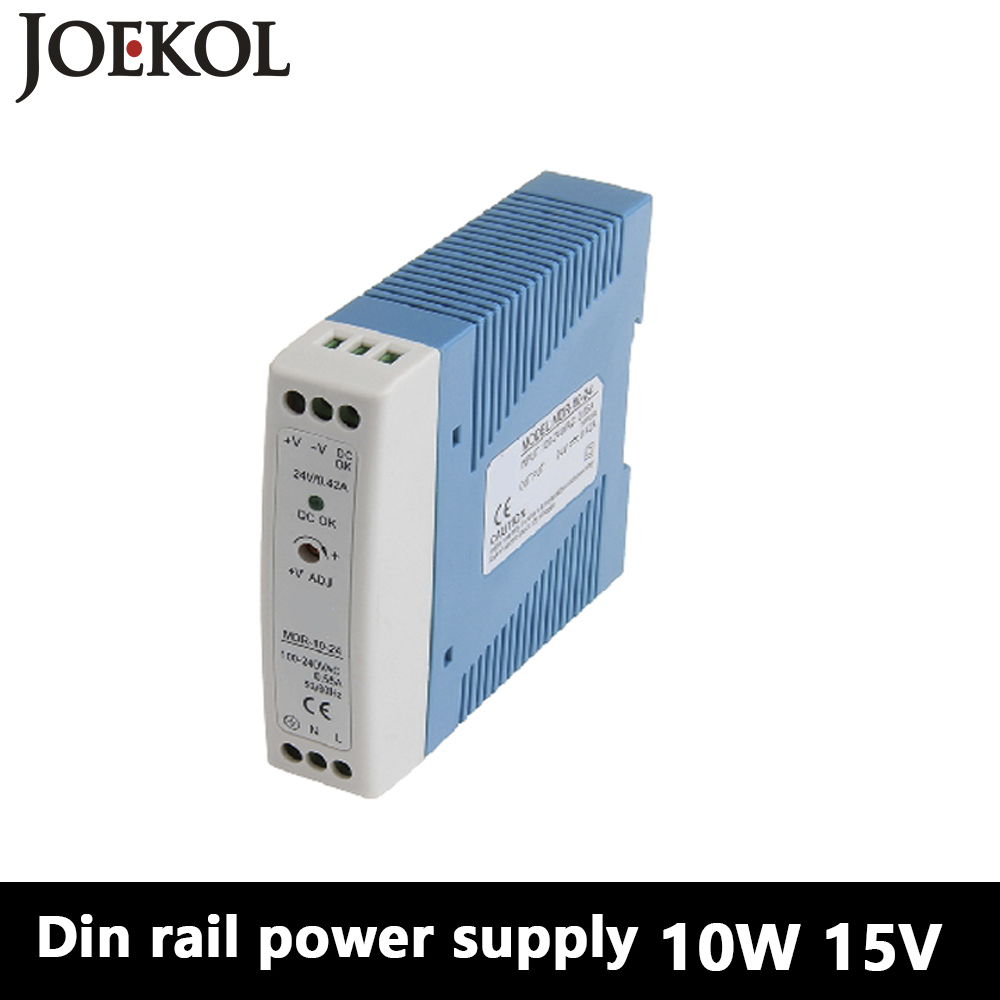 MDR-10 Din Rail Power Supply 10W 15V 0.67A,Switching Power Supply AC 110v/220v Transformer To DC 15v,ac dc converter dr 240 din rail power supply 240w 48v 5a switching power supply ac 110v 220v transformer to dc 48v ac dc converter