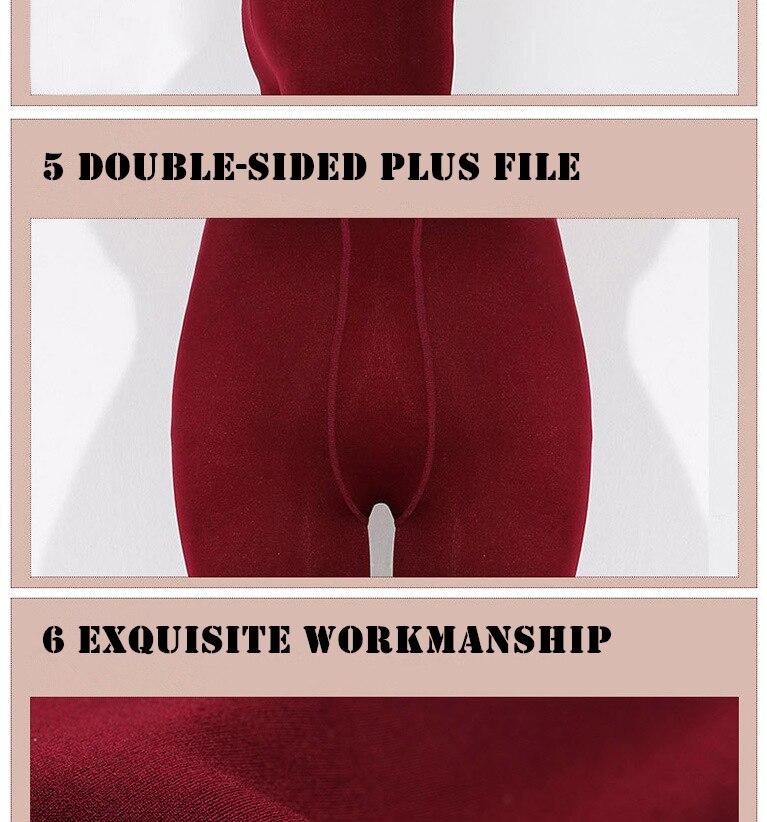 YRRETY Winter Warm Velvet Thick Skinny Pants Women Plus Size High Waist Leggings Trousers Female Clothing Pencil Pants Femme 57
