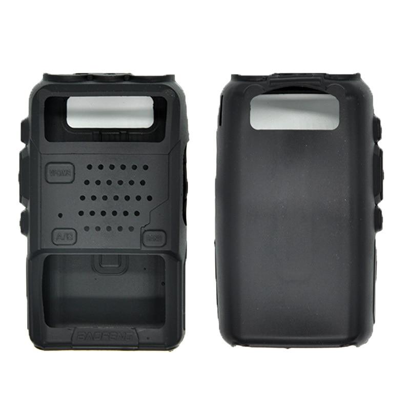 BAOFENG UV-5R couverture en caoutchouc pour talkie-walkie Baofeng UV5R UV-5RA UV-5RB couverture en Silicone UV-5RE pour radio CB