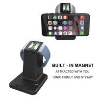 2 em 1 Smartphone Relógio Inteligente Carregador para Fitbit Smartwatch Iônico Magnético Stand Titular Doca Estação de Carregamento para Fitbit Iônica|charger for|charger charger|charger magnetic -