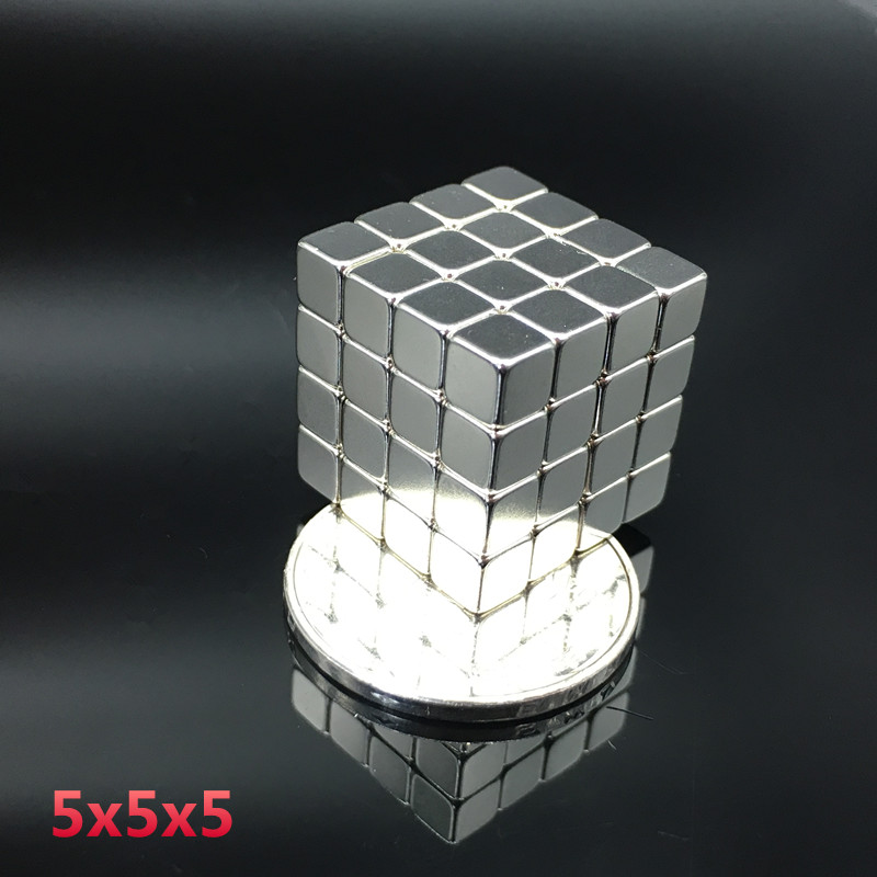 <font><b>Neodymium</b></font> <font><b>Magnet</b></font> 50pcs <font><b>5x5x5</b></font> mm Strong Rare Earth Block square Permanent small fridge Electromagnet speaker <font><b>magnet</b></font> 5*5*5 mm image
