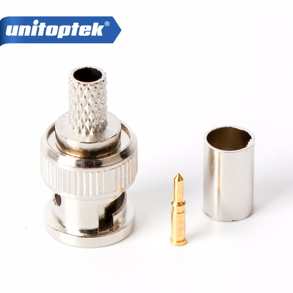 10Pcs/lot Crimp On BNC Male RG59 Coax Coaxial Connector Adapter Bnc Connector BNC Male 3-Piece Crimp массажер д ухода за кожей лица gezatone 8 марта женщинам