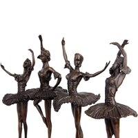 Чистая медь балет девушка украшения произведение искусства музыка Танцы характер Свадьба День рождения скульптура украшения дома свадебн