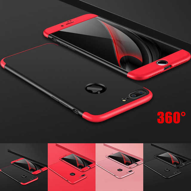outlet store e2dd4 0f76e US $3.98 20% OFF|Luxury Slim Hybrid Shockproof Armor Case for iPhone 7 6 6s  Plus Hard Thin Capa 360 Full Body Protection Back Cover for iphone6 8-in ...