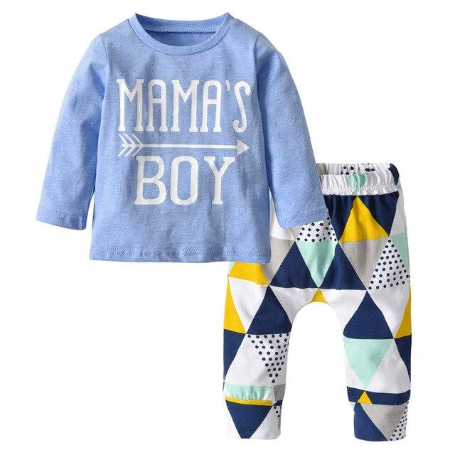6d415ee2c Autumn baby boy clothing set cotton long sleeve letter t-shirt + pants  infant 2pcs set newborn baby boys clothes toddler outfits