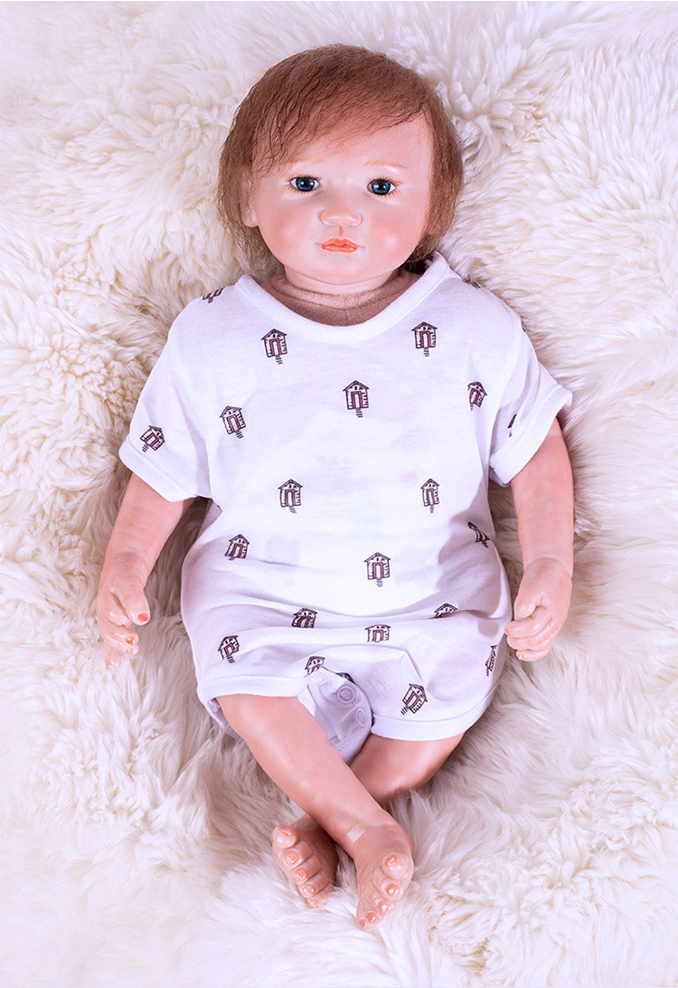 Cute BeBe Reborn Doll PP Cotton Body 48cm Silicone Reborn Baby Dolls Lifelike Newborn Baby Gift Juguetes Babies Toys baby dolls that look real silicone reborn baby dolls lifelike newborn baby gift juguetes babies toys bebe reborn silicone