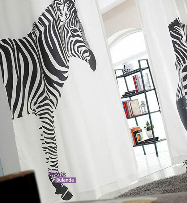 White Curtains black and white curtains for living room : Popular Black Zebra Curtains-Buy Cheap Black Zebra Curtains lots ...