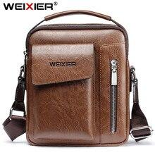 Hot Selling Mens Messenger Bag Vintage Designer Pu leather Male Shoulder Bag Man Crossbody Bag Handbags High Quality
