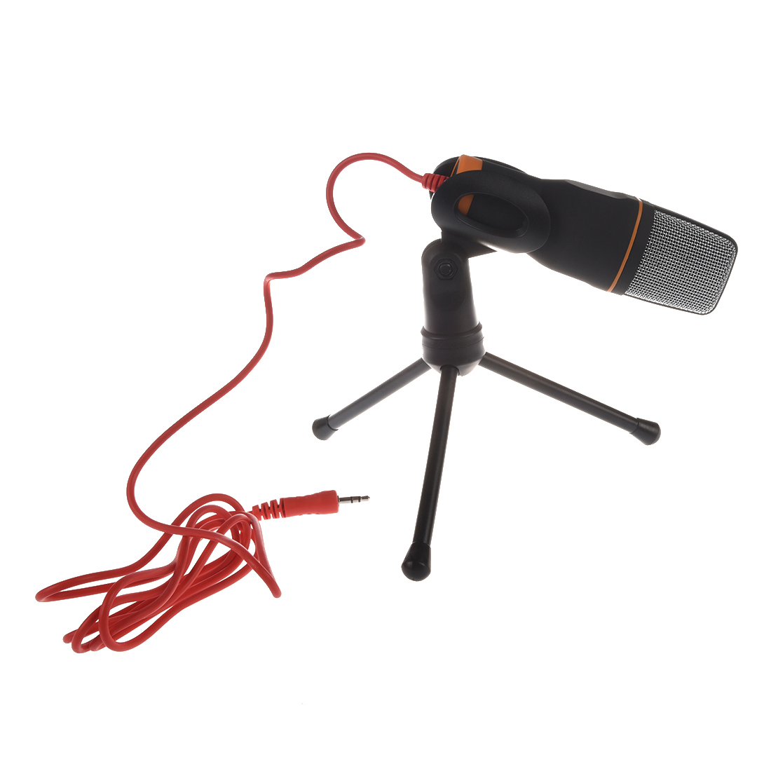 Microphone Thzy 35mm Audio Jack Connection Condenser Sound 3 5mm Wiring With Tripod For Computer Laptop Black In Microphones From Consumer Electronics On