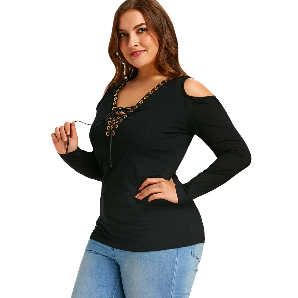 gamiss women tees tops plus size 5xl autumn 2018 cold