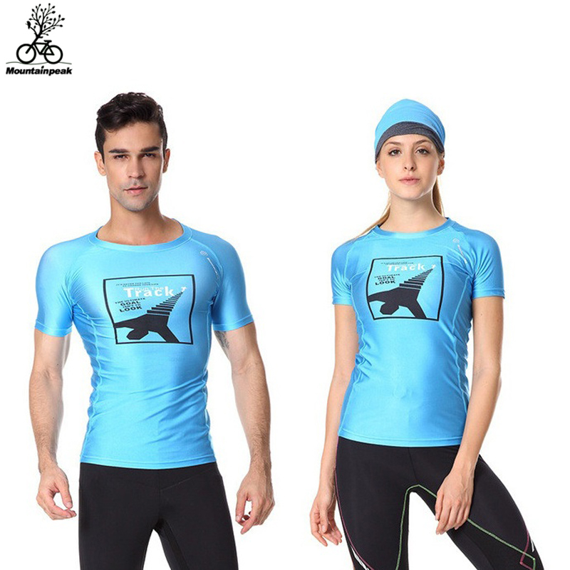 New 4 Colours Men Women Running Shirts Fitness T-shirt Sports Quick Dry Breathable Gym Workout Short Sleeve Shirt Lovers Shirts ...