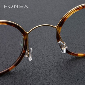 Image 3 - Titanium Alloy Glasses Frame Men Women Myopia Optical Denmark Ultralight Prescription Eyeglasses Korean Screwless Eyewear 98613