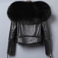 YIN FEI Natural Furs Jackets Woman Real Fur Coat For Women's Genuine Leather Fur Overcoat