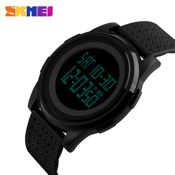 SKMEI Fashion Casual Sport Watch Men Alarm Clock Simple Luxurious Brand 3BarWaterproof Digital Watches reloj hombre 1206