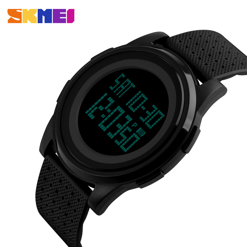 SKMEI Fashion Casual Sport <font><b>Watch</b></font> Men Alarm Clock Simple Luxurious Brand 3BarWaterproof Digital <font><b>Watches</b></font> reloj hombre 1206 image
