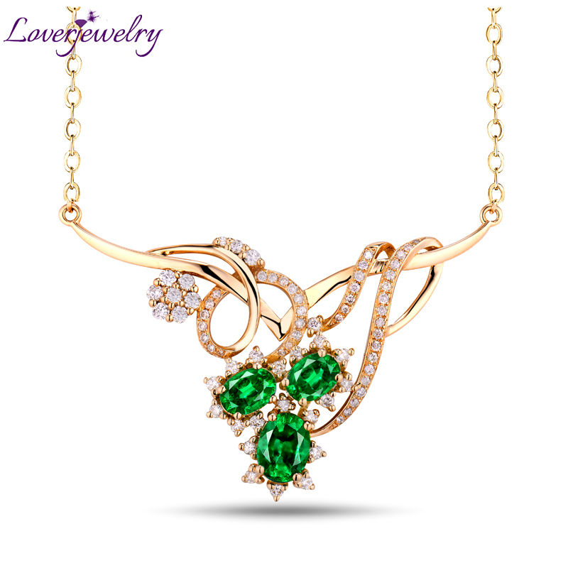 Best Gift Queen Style Hot Green Emerald Pendant Necklace With Natural Diamond 18Kt Yellow Gold Gemstone Fine Jewelry For Sale 1 7 lcd thermometer with timer for kitchen