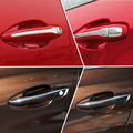 car stainless steel door handle cover stickers For Citroen C4L Peugeot 308 408 301 3008