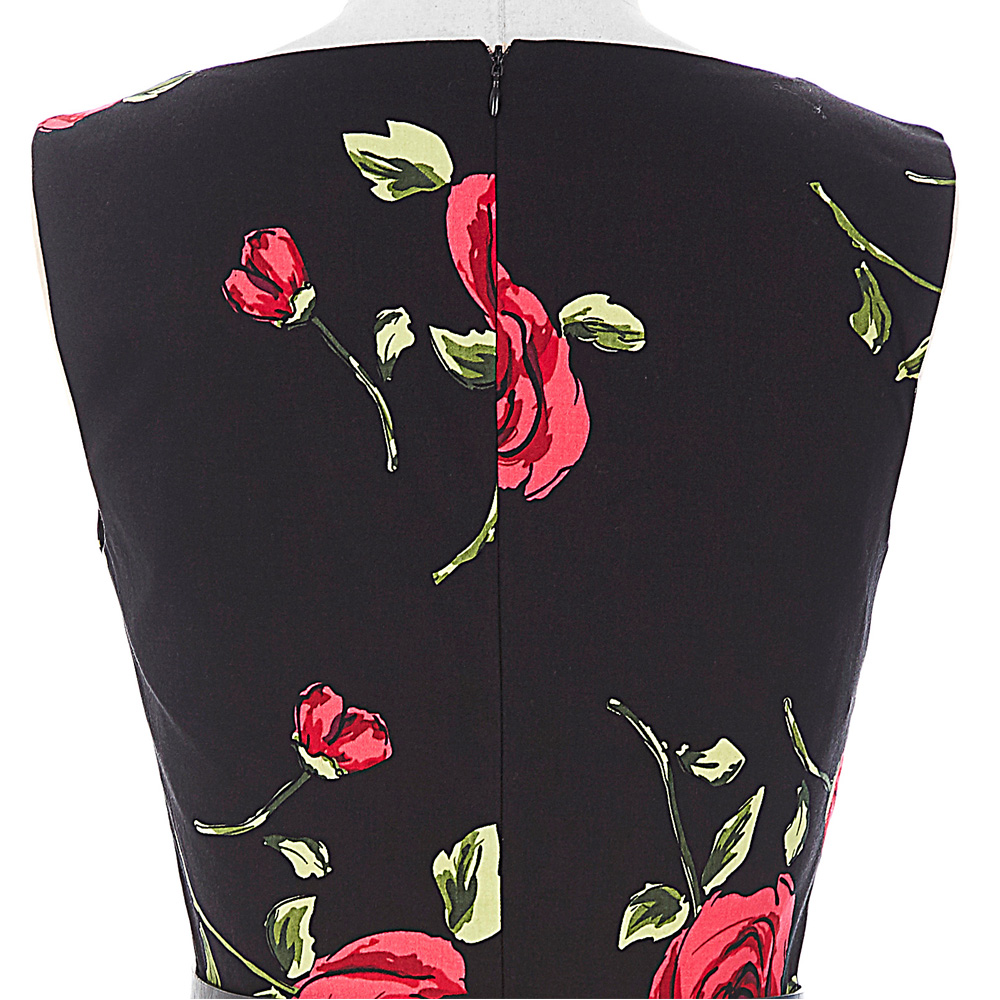 2018 robes d'été femmes pin-up floral rétro robe Dot Rockabilly - Vêtements pour femmes - Photo 6