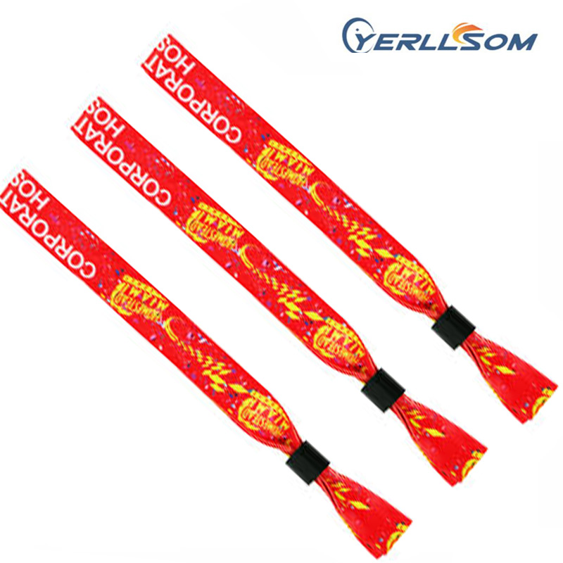 YERLLSOM 700PCS Lot High Quality Customized Cloth Fabric Wristbands With Woven Logo For Events F19021101