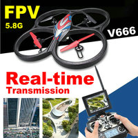 WLToys V666 5 8G FPV Drone 4CH RC Quadcopter With Real Time Camera And Monitor RTF