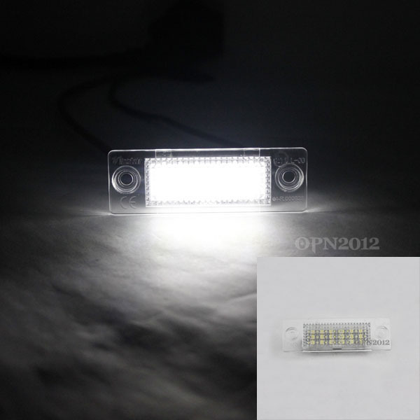 2 x White Error Free 18SMD LED License Plate Light for VW Jetta Golf Caddy #2217