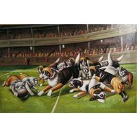 Kash Koolidge dogs oil painting Higher Education modern large wall pictures canvas art home decor