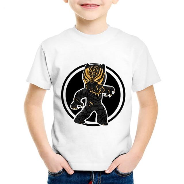 483bfa4e Children Fashion Print Black Panther Funny T-shirts Kids Summer Short  Sleeve Tees Tops Baby