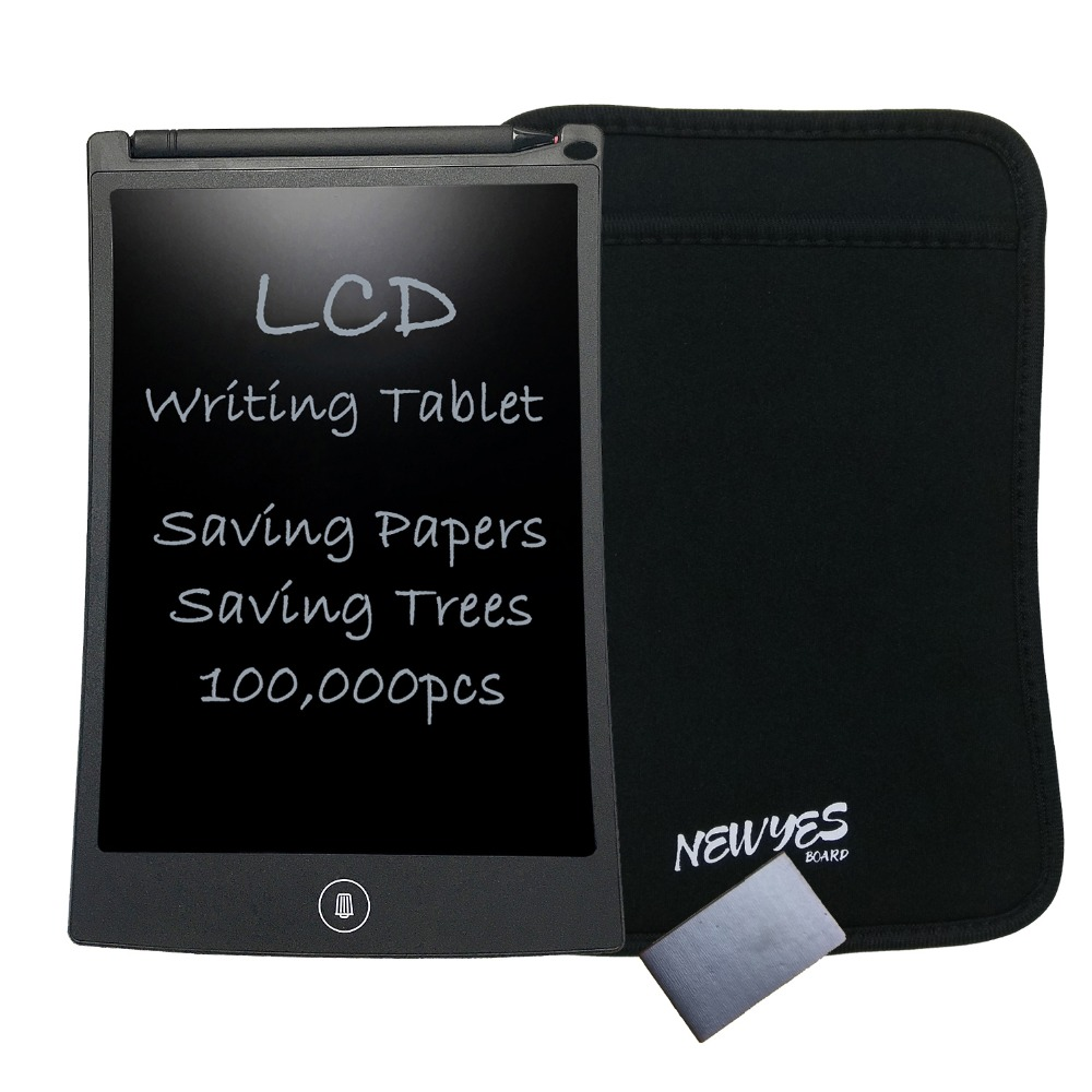 NEWYES 8.5 inch Black Drawing Toys Erase Tablet Electronic Paperless - Portable Audio and Video