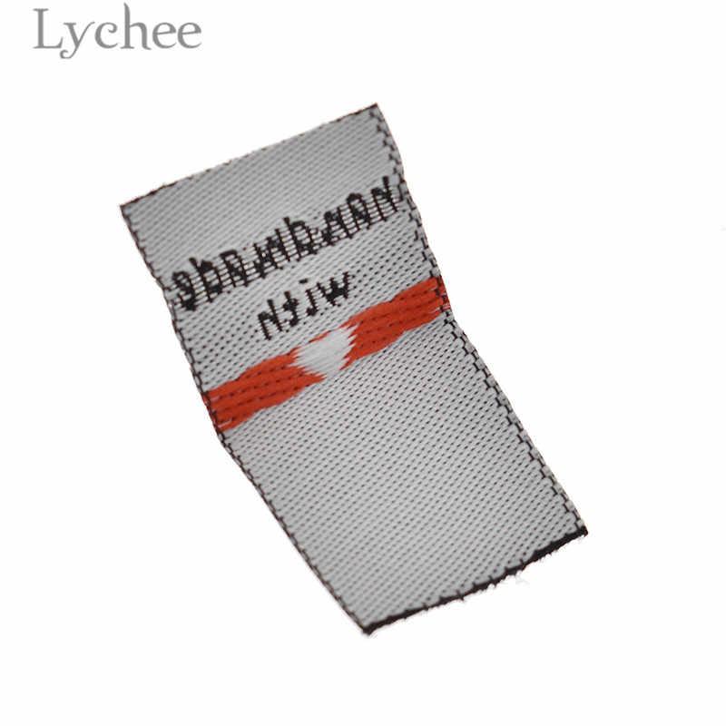 열매 100Pcs 사랑 의류 레이블 양각 된 태그 DIY 플래그 레이블 의류 봉 제 액세서리에 대 한 수 제