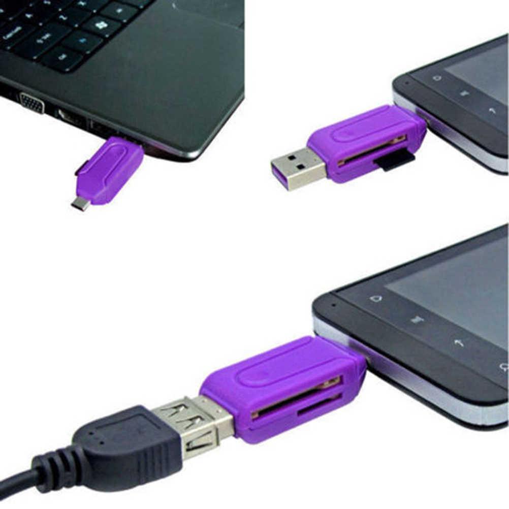 Universal 1 Pcs Kartu Pembaca Dapat Diandalkan Micro USB OTG TF T-flash Card Reader untuk Ponsel PC