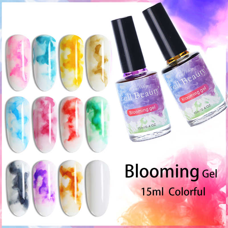 15ml Nail Blossom Gel Polish Magic Blooming Flower Watercolor Varnish Lacquer Soak Off Uv Gel Nails Art Decor Set Manicure Tr895 Nail Gel Aliexpress
