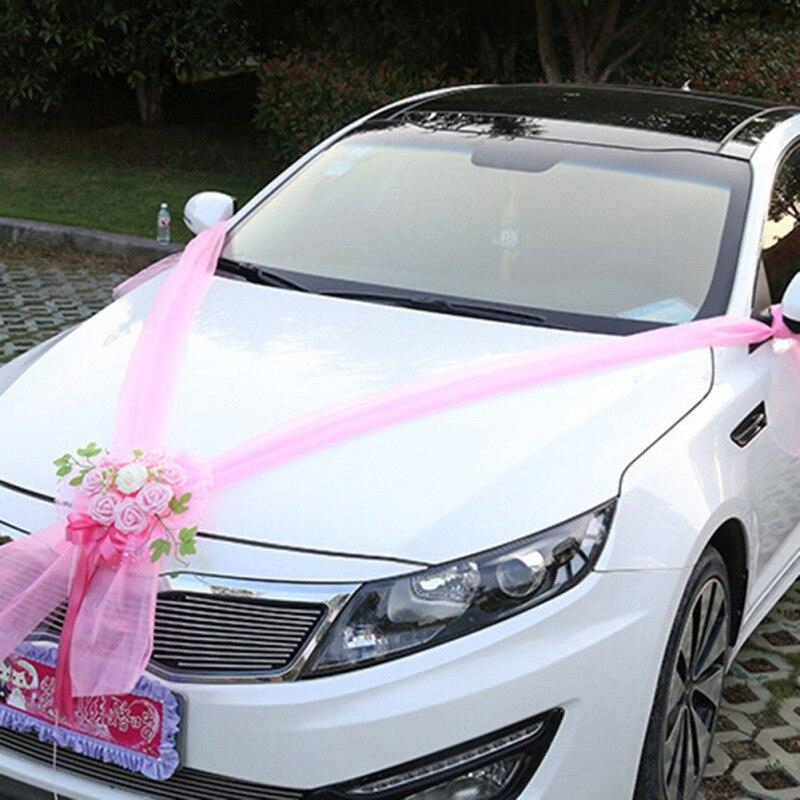 Altar Wedding Cars Timperley: Artificial Flowers Wedding Car Decoration Foam Roses